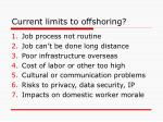 current limits to offshoring