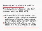how about intellectual tasks
