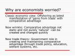 why are economists worried