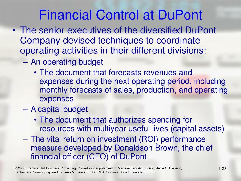 Financial Control at DuPont