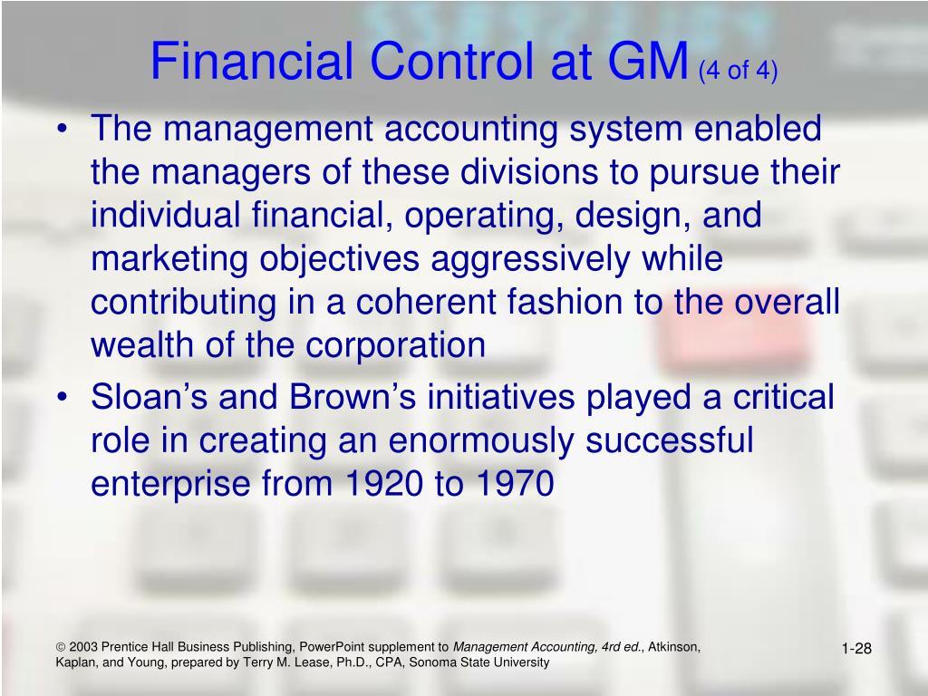 Financial Control at GM