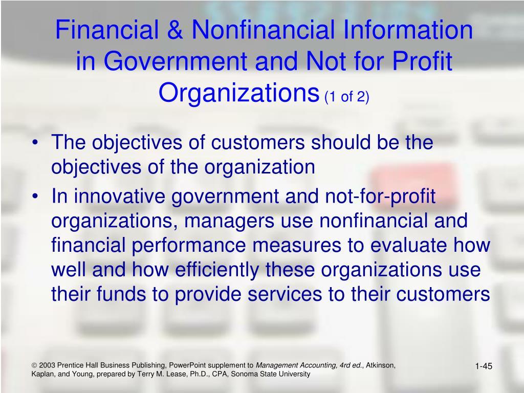 Financial & Nonfinancial Information