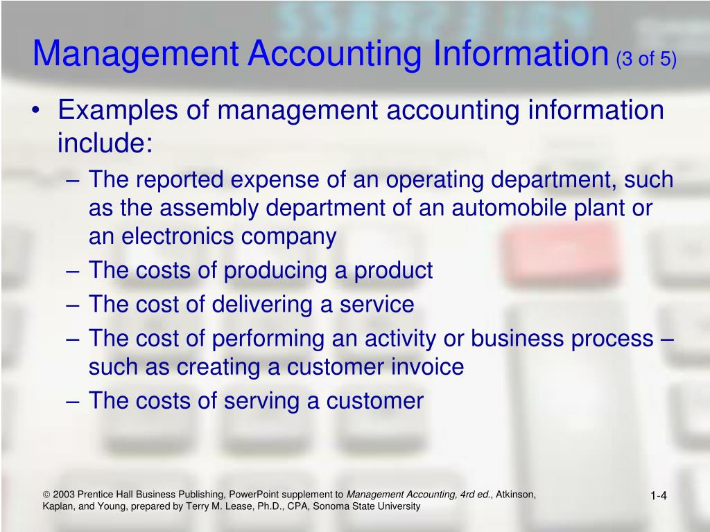 Management Accounting Information