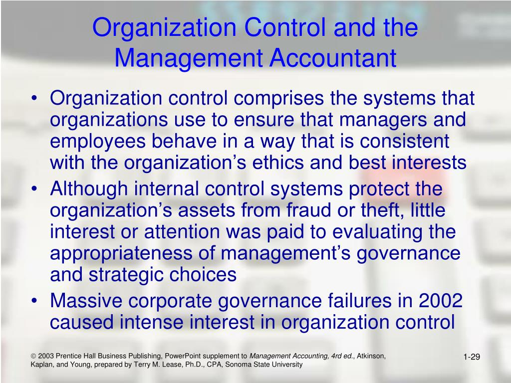 Organization Control and the Management Accountant