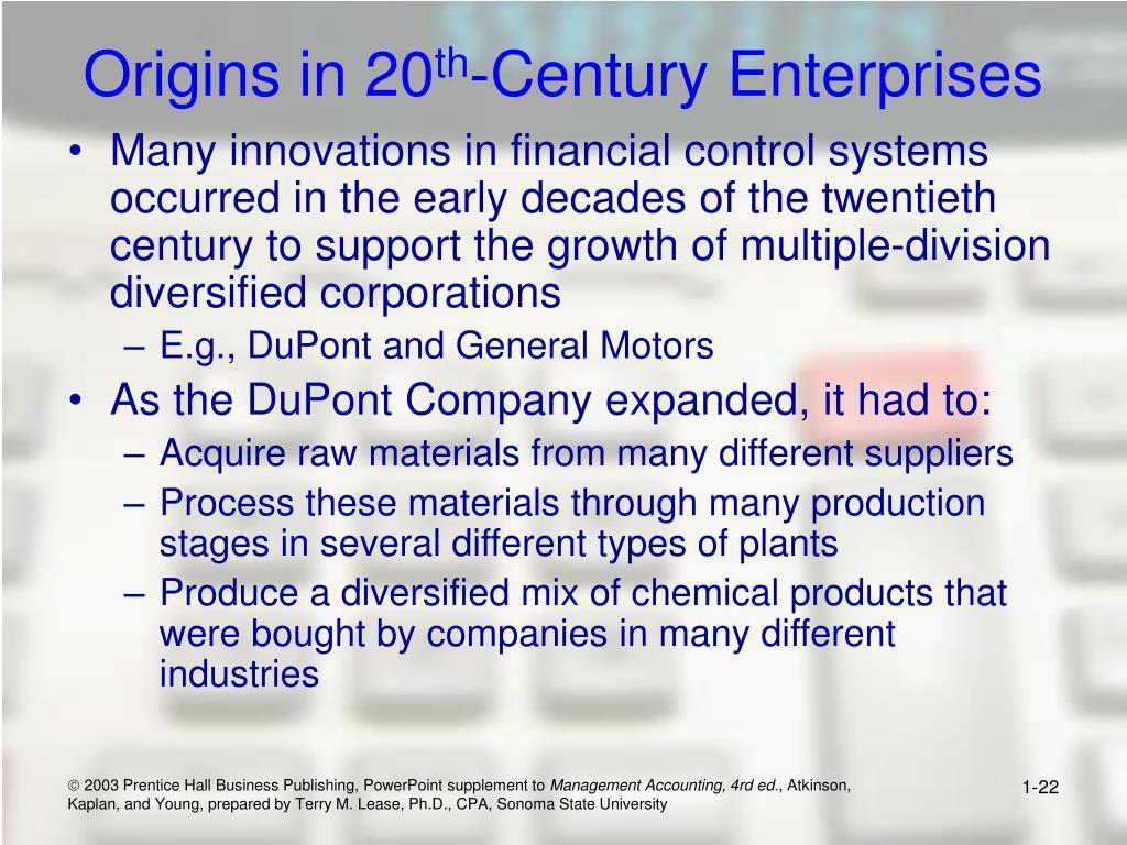 Origins in 20