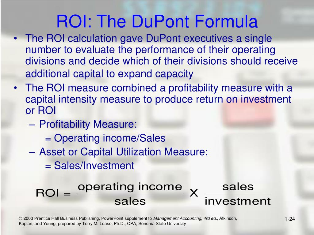 ROI: The DuPont Formula