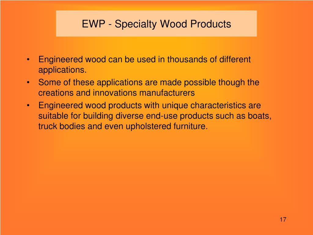 EWP - Specialty Wood Products