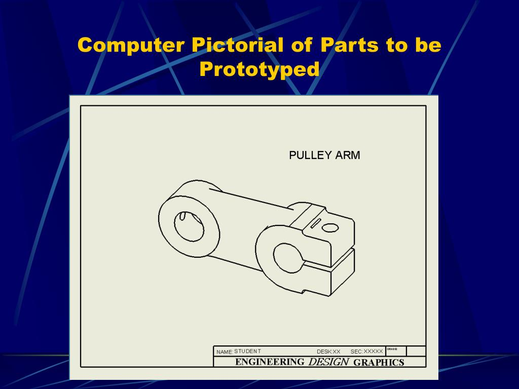 Computer Pictorial of Parts to be Prototyped
