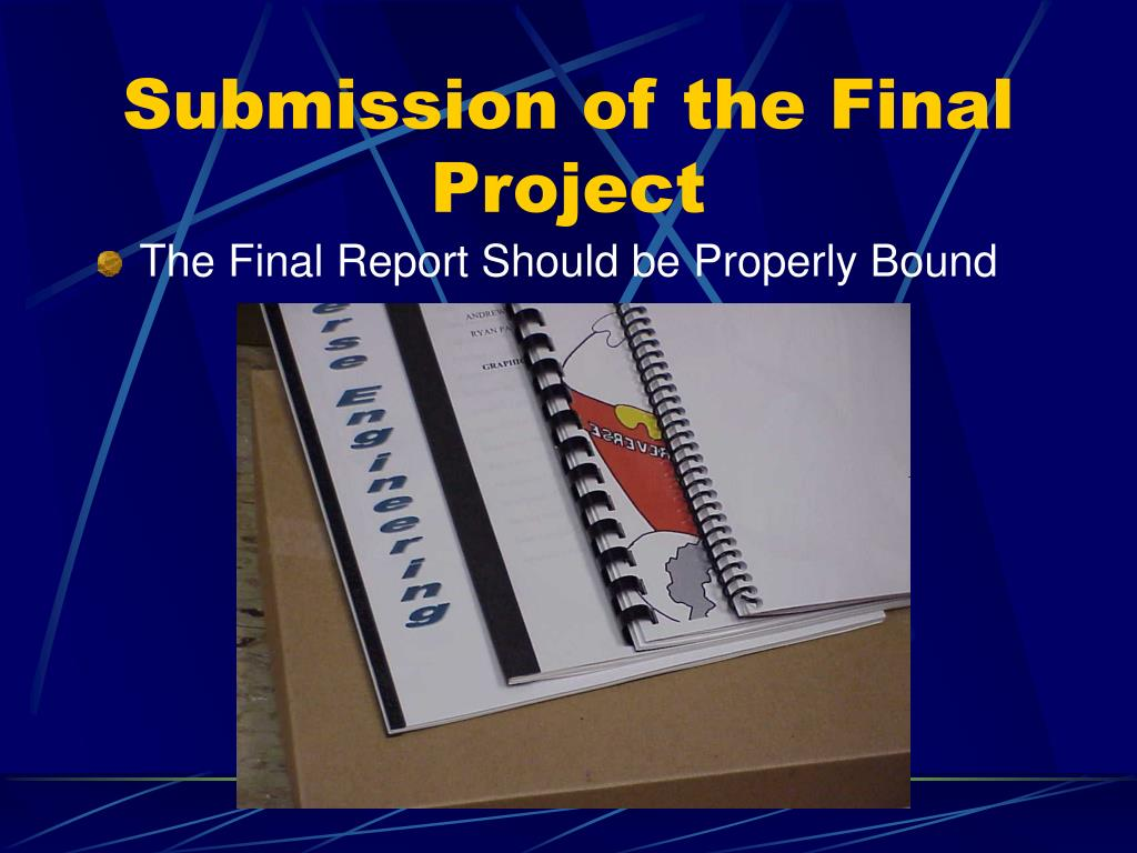 Submission of the Final Project