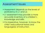 assessment issues