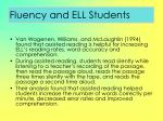fluency and ell students84