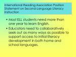 international reading association position statement on second language literacy instruction114