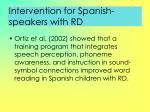 intervention for spanish speakers with rd