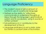 language proficiency