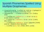 spanish phonemes spelled using multiple graphemes