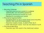 teaching pa in spanish56