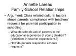 annette lareau family school relationships