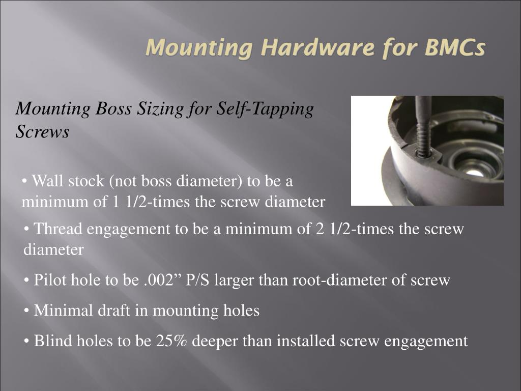 Mounting Hardware for BMCs