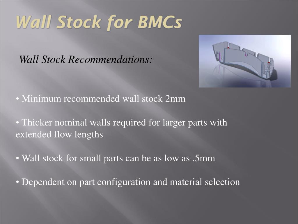 Wall Stock for BMCs