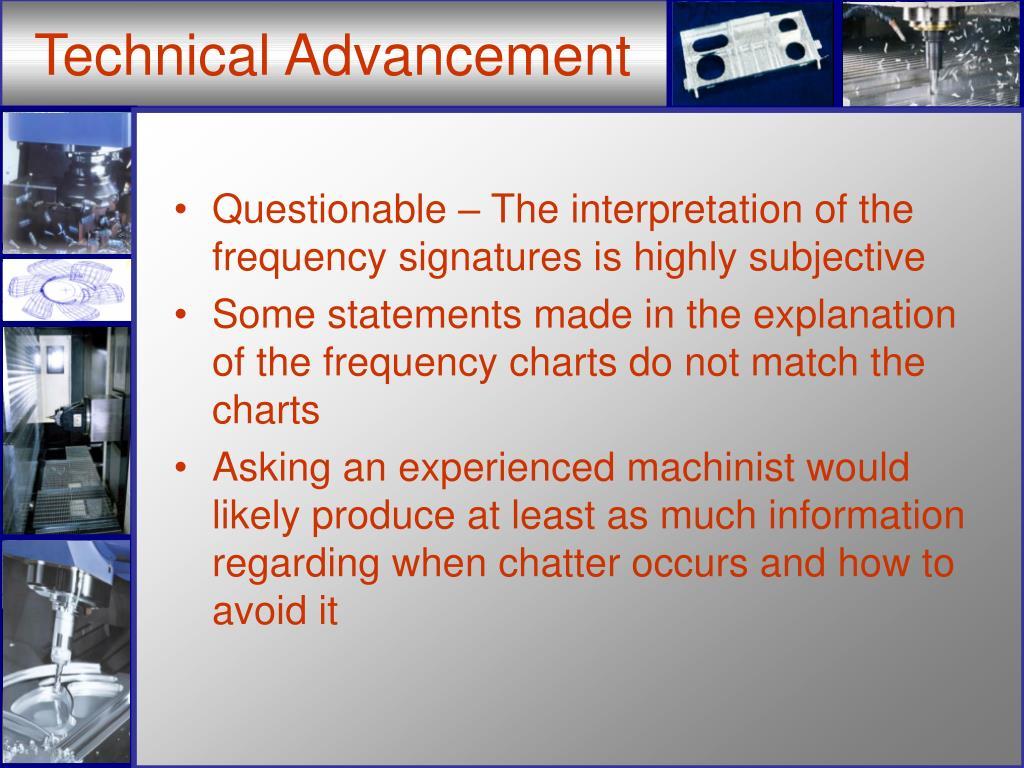 Technical Advancement