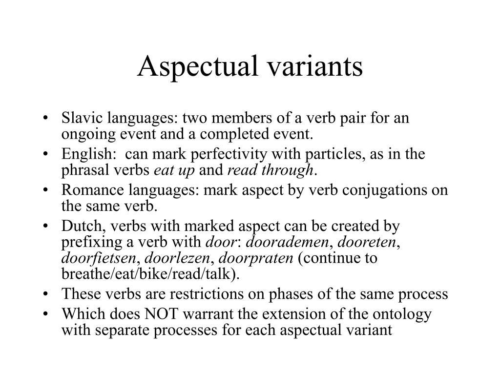 Aspectual variants