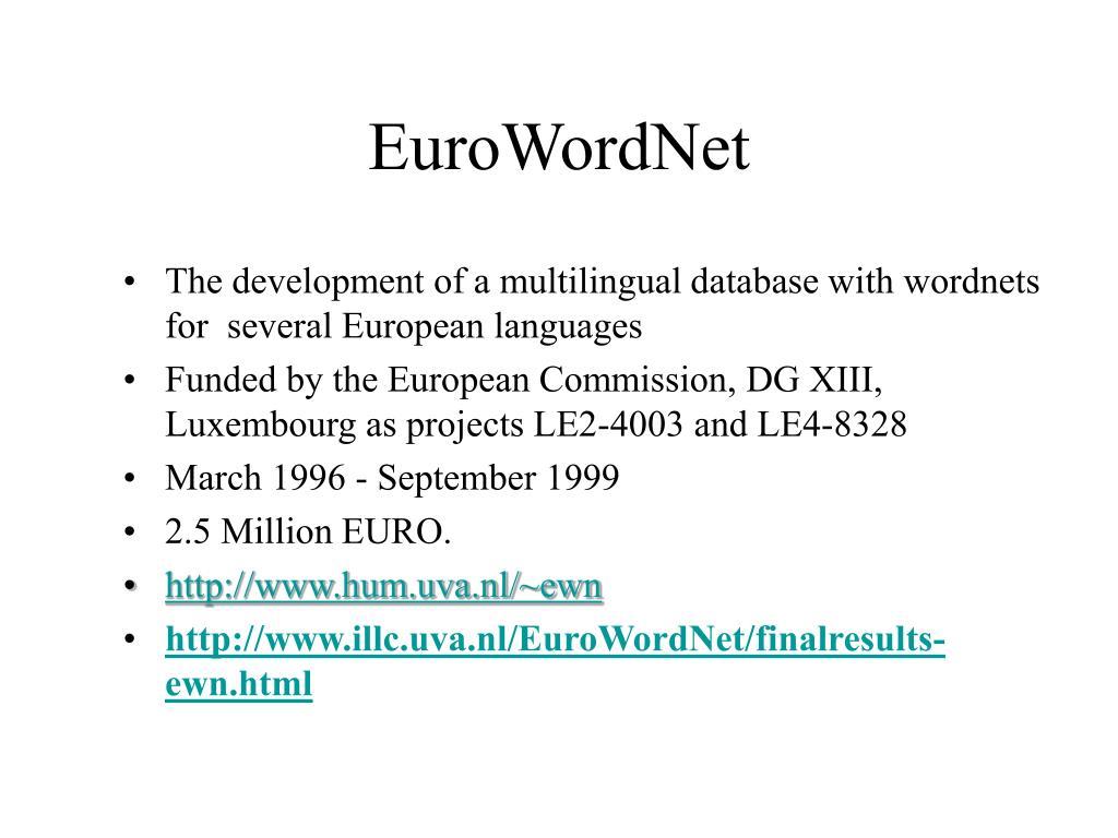 EuroWordNet