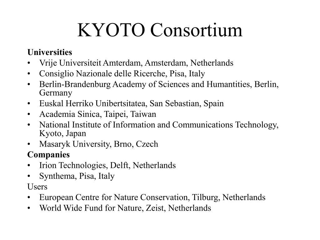 KYOTO Consortium