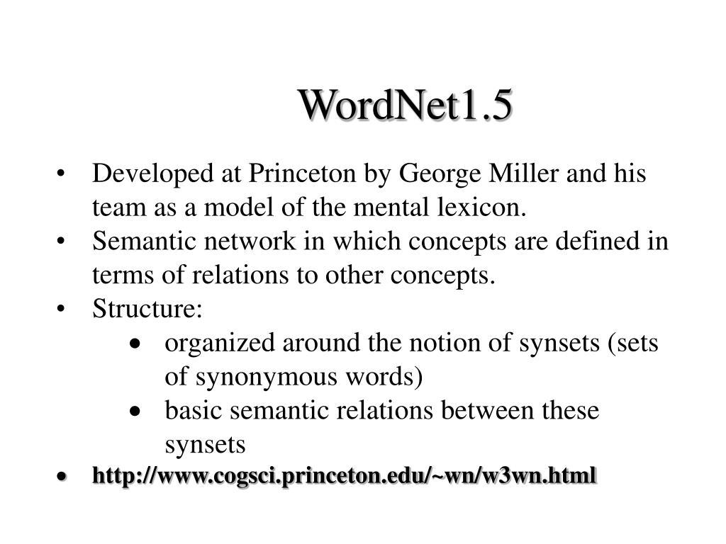 WordNet1.5