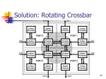 solution rotating crossbar