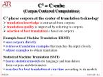 c 3 c cube corpus centered computation