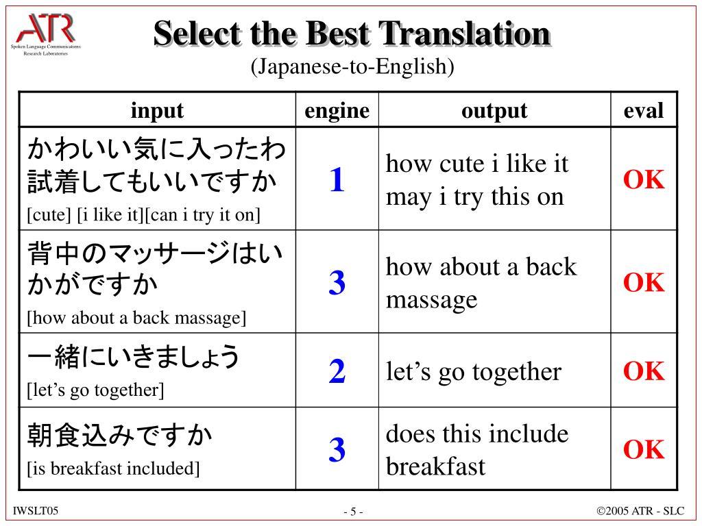 Select the Best Translation