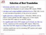 selection of best translation12
