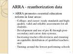 arra reauthorization data