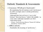 outlook standards assessments