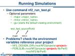 running simulations