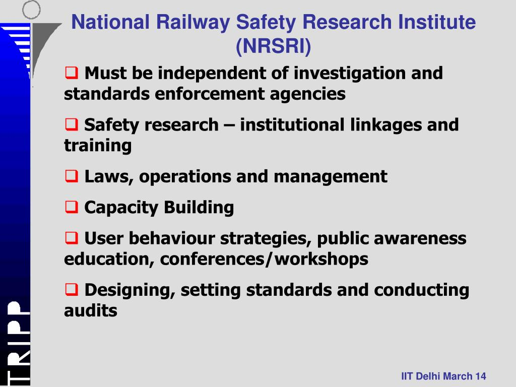 National Railway Safety Research Institute (NRSRI)