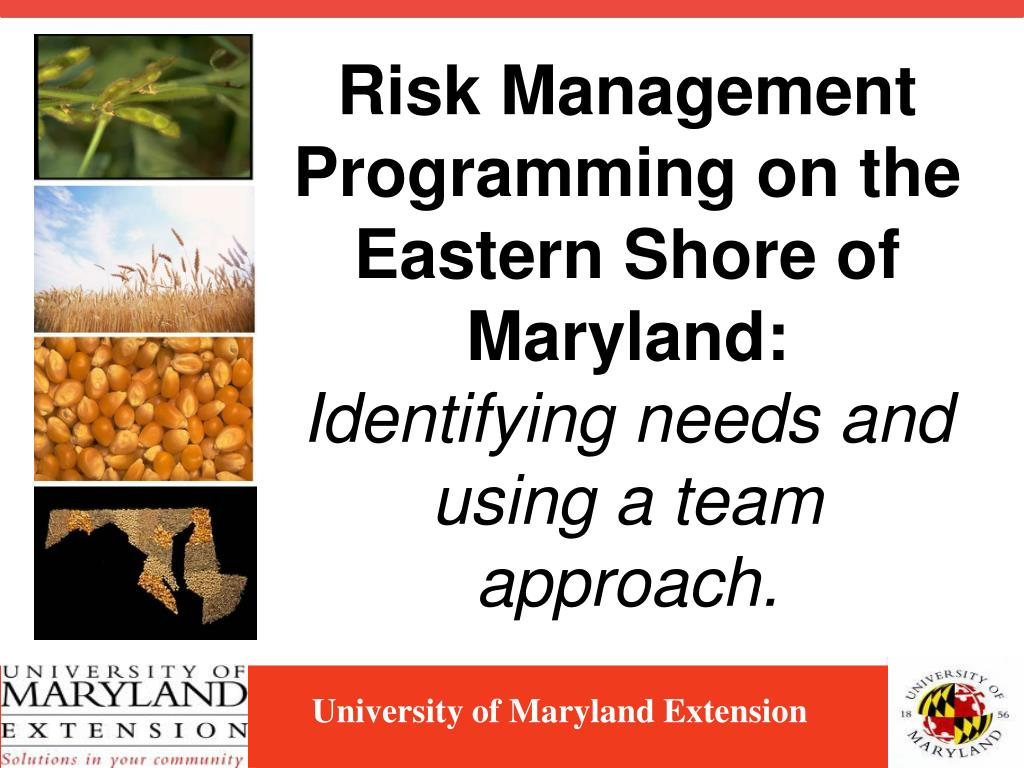 Risk Management Programming on the Eastern Shore of Maryland: