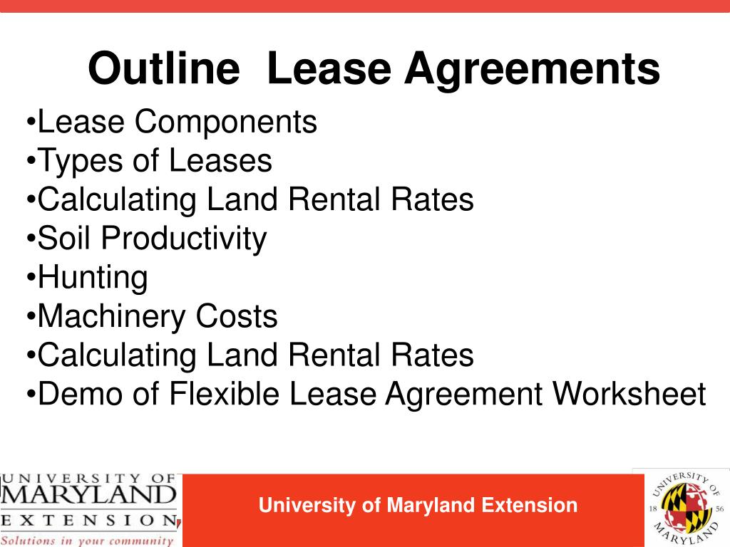 Outline  Lease Agreements