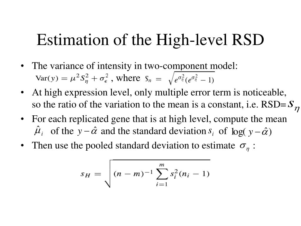Estimation of the High-level RSD