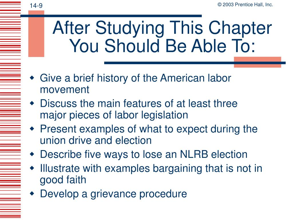 After Studying This Chapter You Should Be Able To: