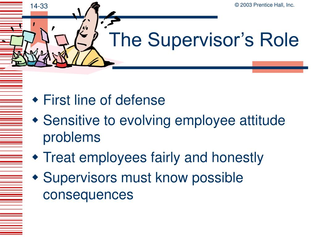 The Supervisor's Role