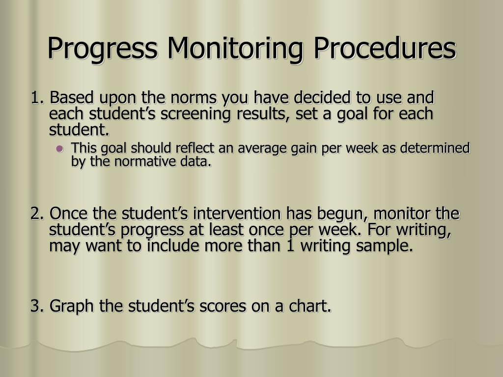Progress Monitoring Procedures