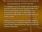 the resurrection of christ is essential to the foundation of christianity