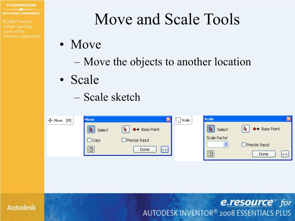 Move and Scale Tools