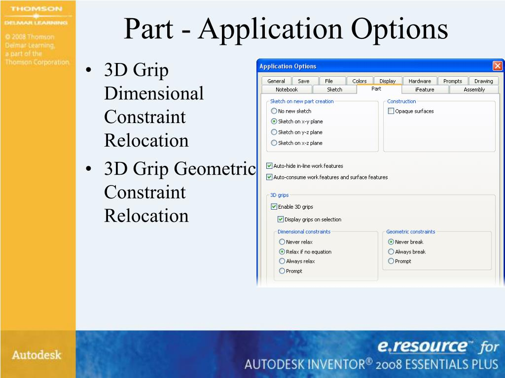 Part - Application Options