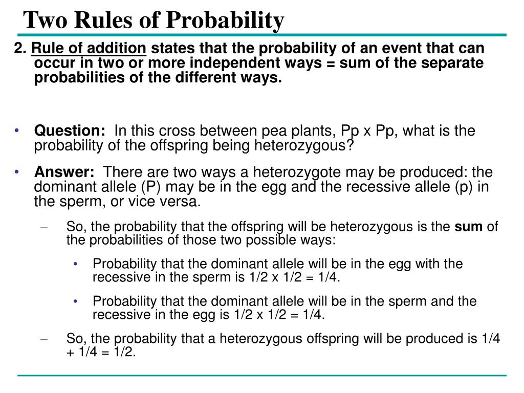 Two Rules of Probability