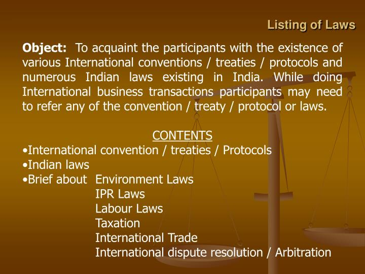 Listing of laws2