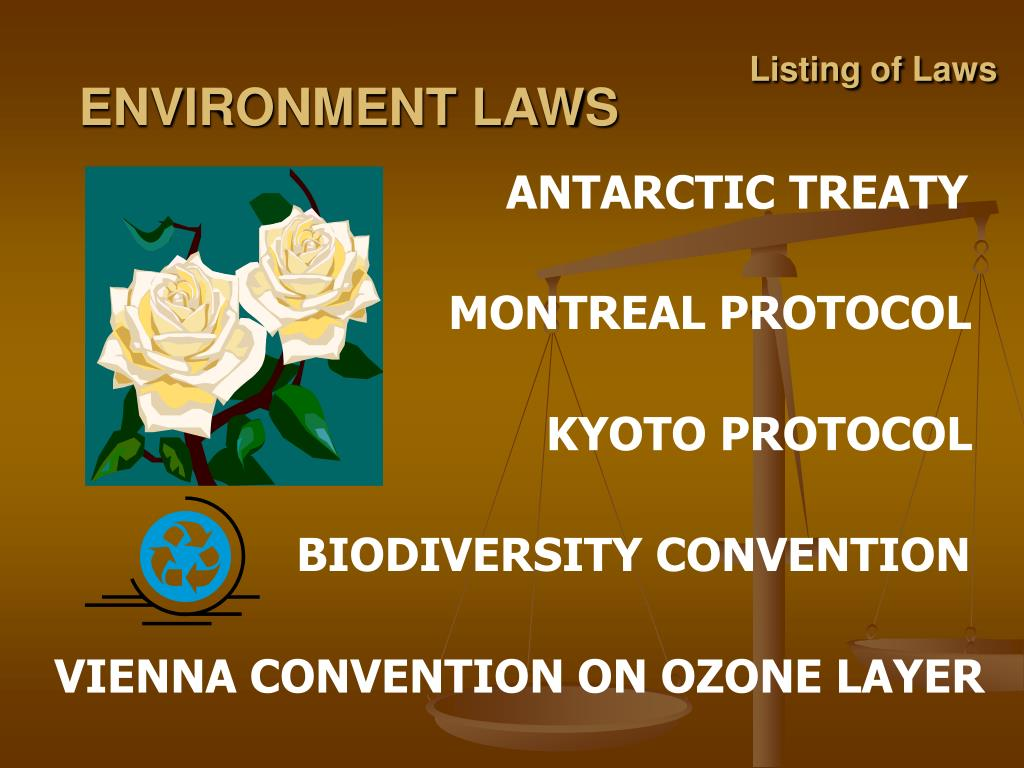 Listing of Laws