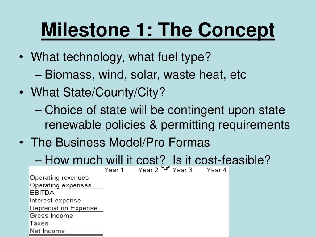 Milestone 1: The Concept