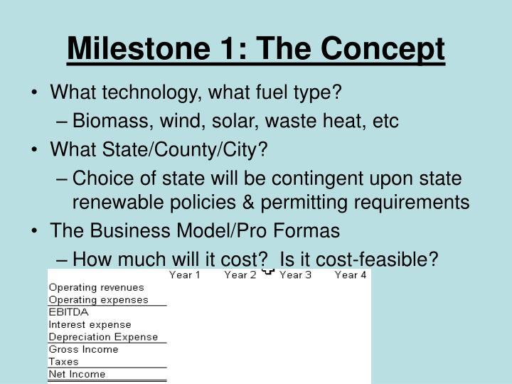 Milestone 1 the concept